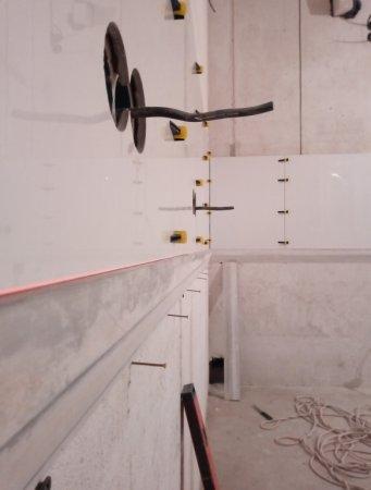 Сверление отверстий для розеток, в керамограните, Краснодар (ул.Восточно-Кругликовская)